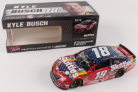 Kyle Busch Signed NASCAR #18 Skittles Red, White & Blue 2018 Camry - 1:24 Premium Action Diecast Car (PA COA) at PristineAuction.com