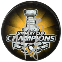 Matt Murray Signed 2017 Stanley Cup Penguins Logo Hockey Puck (Fanatics Hologram) at PristineAuction.com