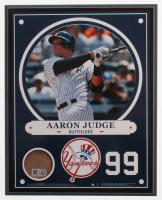 Aaron Judge New York Yankees 8x10 Plaque with Game-Used Dirt (Steiner COA & MLB Hologram) at PristineAuction.com