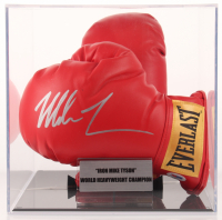 Mike Tyson Signed Everlast Boxing Glove Pair with Display Case (PSA COA) at PristineAuction.com