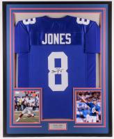 Daniel Jones Signed 34x42 Custom Framed Jersey (JSA COA) at PristineAuction.com