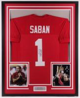 Nick Saban Signed 34x42 Custom Framed Jersey (JSA COA) at PristineAuction.com