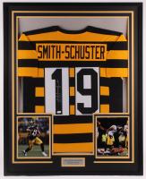 JuJu Smith-Schuster Signed 33x41 Custom Framed Jersey Display (JSA COA) at PristineAuction.com