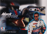 Mark Martin Signed NASCAR 19x26 Photo (JSA COA) at PristineAuction.com