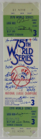 1978 New York Yankees 9x33 World Series Ticket Canvas Signed By (23) With Goose Gossage, Sparky Lyle, Reggie Jackson (JSA COA) at PristineAuction.com