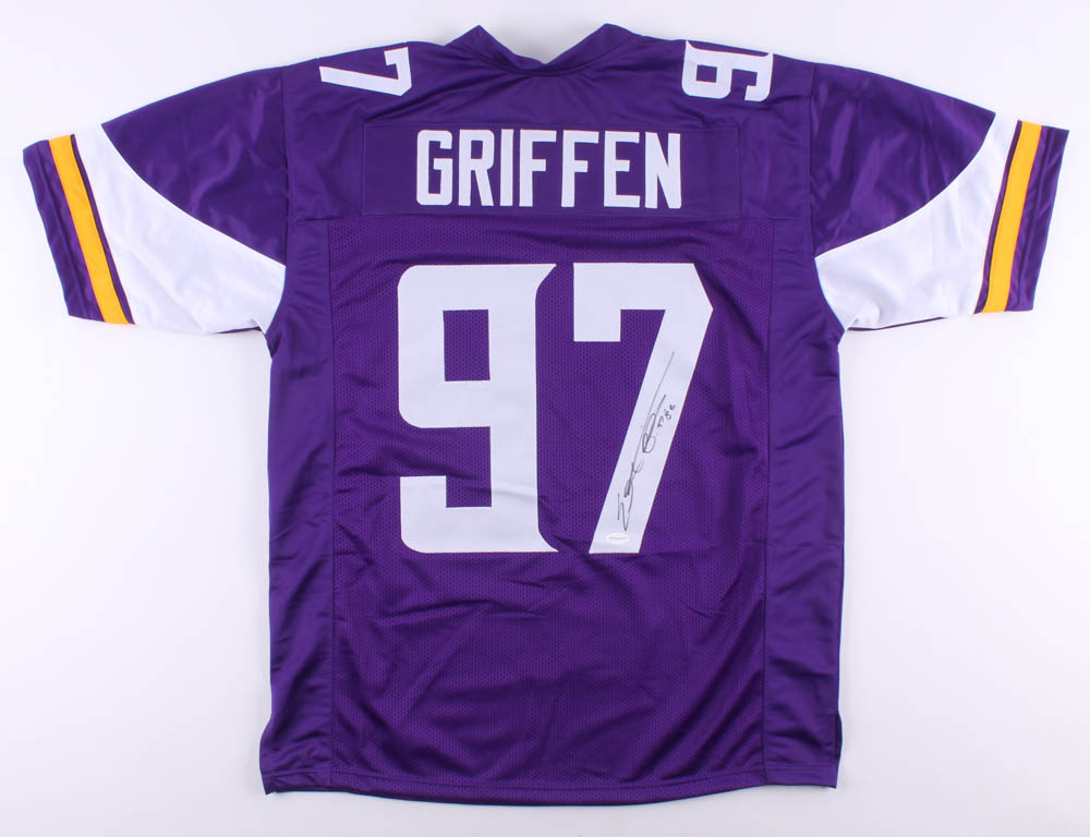 "Everson Griffen Signed Jersey Inscribed ""BG"" (TSE COA) at PristineAuction.com"
