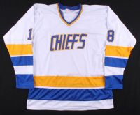 """Jeff Carlson, Steve Carlson & Dave Hanson Signed Jersey Inscribed """"Old Time Hockey"""" (Beckett COA) at PristineAuction.com"""