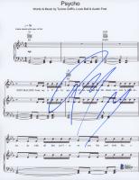 "Post Malone Signed ""Psycho"" 8.5x11 Lyric Sheet (Beckett COA) at PristineAuction.com"