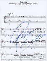 "Post Malone Signed ""Rockstar"" 8.5x11 Lyric Sheet (Beckett COA) at PristineAuction.com"