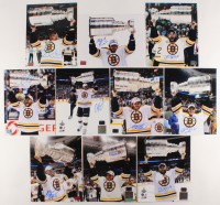 Lot of (10) Signed Boston Bruins Stanley Cup Champions 8x10 Photos with Gregory Campbell, Rich Peverly, Dennis Seidenberg, Chris Kelly (YSMS COA & Peverly Hologram & Boychuck Hologram & Khudobin Hologram & McQuaid Hologram & Campbell Hologram) at PristineAuction.com