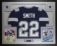 "Emmitt Smith Signed 35"" x 43"" Custom Framed Jersey (Beckett COA) at PristineAuction.com"