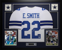"Emmitt Smith Signed 35"" x 43"" Custom Framed Jersey (Beckett COA & Prova Hologram) at PristineAuction.com"