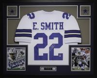 "Emmitt Smith Signed 35"" x 43"" Custom Framed Jersey (Beckett COA) at PristineAuction.com"