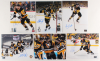 Lot of (6) Signed Pittsburgh Penguins 8x10 Photos with Conor Sheary, Chris Kunitz, Carter Rowney, Kris Letang (YSMS COA & Dumoulin Hologram & Letang Hologram & Rowney Hologram & Kunitz Hologram & Sheary Hologram) at PristineAuction.com