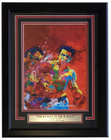 """Leroy Neiman """"The Rumble in the Jungle"""" 16x20 Custom Framed Print Display at PristineAuction.com"""