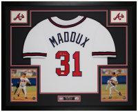 "Greg Maddux Signed 35"" x 43"" Custom Framed Jersey (JSA COA) at PristineAuction.com"