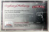 Deandre Ayton Signed Phoenix Suns Logo LE Basketball (Game Day Legends COA & Steiner Hologram) at PristineAuction.com