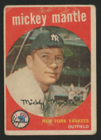 1959 Topps #10 Mickey Mantle at PristineAuction.com