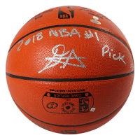"""Deandre Ayton Signed NBA Game Ball Series LE Basketball Inscribed """"2018 NBA #1 Pick"""" (Game Day Legends COA & Steiner Hologram) at PristineAuction.com"""