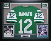 "Joe Namath Signed 35"" x 43"" Custom Framed Jersey (JSA COA) at PristineAuction.com"