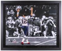 Tom Brady Signed New England Patriots 40x48 Custom Framed LE Photo (Steiner COA) at PristineAuction.com