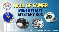 Schwartz Sports Football Hall of Famer Signed Mini Helmet Mystery Box - Series 5 (Limited to 100) at PristineAuction.com