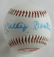 Mickey Mantle Signed New York Yankees Logo Baseball (JSA LOA) at PristineAuction.com