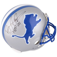 """Barry Sanders Signed Detroit Lions Full-Size Authentic On-Field Helmet Inscribed """"HOF '04"""" (Fanatics Hologram) at PristineAuction.com"""