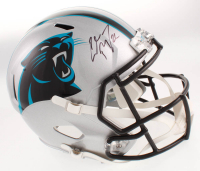 Christian McCaffrey Signed Carolina Panthers Full-Size Speed Helmet (Beckett COA) at PristineAuction.com