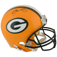 Aaron Rodgers Signed Green Bay Packers Full-Size Authentic On-Field Helmet (Fanatics Hologram) at PristineAuction.com