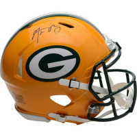 Aaron Rodgers Signed Green Bay Packers Full-Size Authentic On-Field Speed Helmet (Fanatics Hologram) at PristineAuction.com
