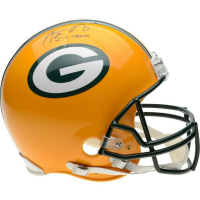 "Aaron Rodgers Signed Green Bay Packers Full-Size Authentic On-Field Helmet Inscribed ""XLV Champs"" (Fanatics Hologram) at PristineAuction.com"