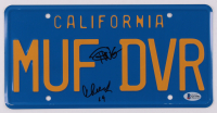 "Cheech Marin & Tommy Chong Signed ""Up in Smoke"" 6x12 License Plate Inscribed ""19"" (Beckett COA) at PristineAuction.com"