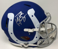 Peyton Manning Signed Indianapolis Colts AMP Full-Size Authentic On-Field Speed Helmet (Fanatics Hologram) at PristineAuction.com