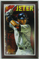 Derek Jeter Signed LE New York Yankees 31x34 Custom Framed Canvas (JSA LOA) at PristineAuction.com
