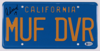 """Cheech Marin Signed """"Up in Smoke"""" 6x12 License Plate Inscribed """"19"""" (Beckett COA) at PristineAuction.com"""