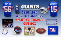 Schwartz Sports 1986, 1990 New York Giants World Champs Mystery Autograph Gift Box – Series 2 (Limited to 100) – **Grand Prize TEAM Signed Jersey** at PristineAuction.com