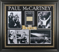 Paul McCartney Signed The Beatles 30.25x34 Custom Framed Cut Display (Beckett Encapsulated) at PristineAuction.com