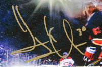 Henrik Lundqvist Signed New York Rangers 22x26 Photo on Canvas (Steiner COA) at PristineAuction.com