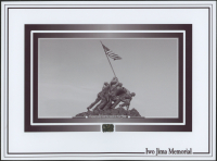 Iwo Jima Memorial 6x8 Photo with Volcanic Sand from Iwo Jima Beach (The Zone COA) at PristineAuction.com