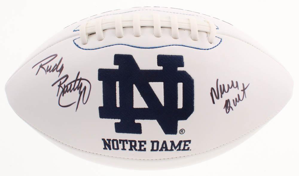 Rudy Ruettiger Signed Notre Dame Fighting Irish Logo ...