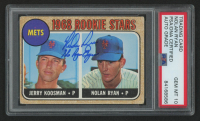 "Nolan Ryan Signed 1968 Topps #177 Rookie Stars RC Inscribed ""The Ryan Express"" (PSA Encapsulated) at PristineAuction.com"