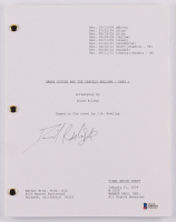 """Daniel Radcliffe Signed """"Harry Potter and the Deathly Hallows – Part 1"""" Movie Script (Beckett COA) at PristineAuction.com"""