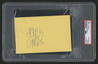 Jerry Garcia Signed 4x6 Cut (PSA Encapsulated) at PristineAuction.com