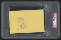 Jerry Garcia Signed 4x6 Cut (PSA Encapsulated) at PristineAuction.com