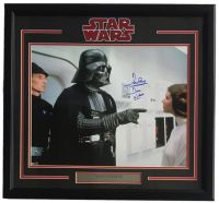 """Dave Prowse Signed """"Star Wars: A New Hope"""" 22x27 Custom Framed Photo Display Inscribed """"Darth Vader"""" (Steiner COA) at PristineAuction.com"""