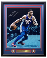 Ben Simmons Signed 76ers 20x24 Framed Photo Display with (2) Coins (UDA COA) at PristineAuction.com