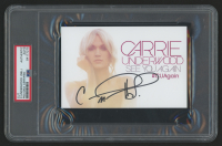 Carrie Underwood Twice-Signed 4x6 Photo Cut (PSA Encapsulated) at PristineAuction.com