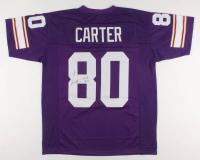 """Cris Carter Signed Jersey Inscribed """"HOF 2013"""" (JSA COA) at PristineAuction.com"""