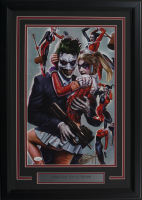 "Greg Horn Signed ""Harley Quinn & Joker"" 17x25 Custom Framed Lithograph Display (JSA COA) at PristineAuction.com"